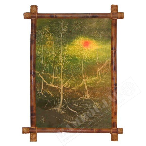 نقاشی مدل غروب جنگل TaNaGrJC1